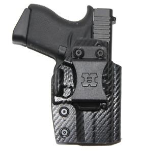 Premium IWB Kydex Gun Holster for Glock 43/43X with Soft Suede Inner Lining