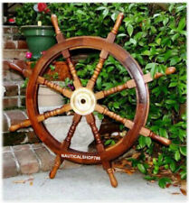 Big Ship Steering Wheel Wooden 36 Inch Antique Style Nautical Pirate Ship
