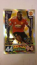 Match Attax 2017/8 Powerhouse card - Romelu Lukaku of Manchester United #372