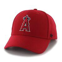 Anaheim Angels 47 Brand MVP Clean Adjustable Strap On Field Red Hat Cap MLB