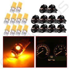 10X T10 LED Dashboard Gauge Yellow Light Bulb PC194 Twist Lock Sockets For Ford