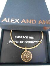 Alex and Ani INITIAL B Expandable Bracelet Rafaelian Gold NWTBC