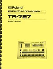 Roland TR-727 Rhythm Composer OWNER'S MANUAL