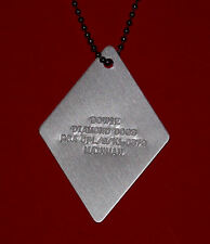 rare ORG 1974 DAVID BOWIE DIAMOND DOGS metal DOG TAG necklace chain RCA PROMO