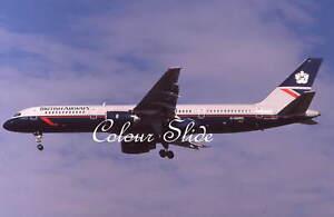 British Airways Boeing 757-236 G-BMRG, 8.90, Colour Slide, Aviation Aircraft