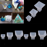9 Pack Pyramid Crystal Epoxy Silicone Mould DIY Resin Decorative Art Craft Molds