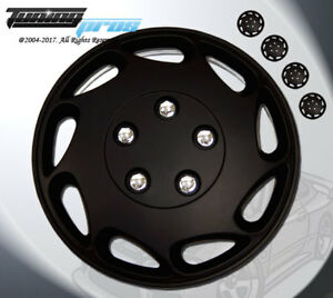 """Wheel Rims Skin Cover 15"""" Inch Matte Black Hubcap -Style 807 15 Inches Qty 4pcs-"""