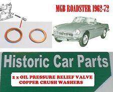 Oil Pressure Relief Valve Copper Washer for MGB Roadster 1798 3BRG CRANK 1962-64