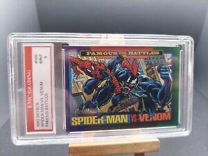 SPIDERMAN VS. VENOM MARVEL 1993 SKYBOX  EMC GRADED 9 TRADING Card GREAT MINT