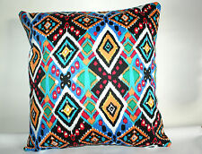 """BRAND NEW BRIGHT MEXICAN AZTEC CUSHION COVER 16""""x16"""