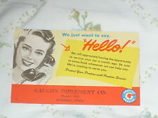 """Pontiac Reminder Post Card - We just want to say, """"Hello"""" - Woman on telephone"""