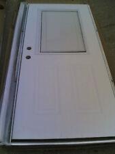 NIB  STEEL Exterior DOOR + Steel Frame & Built-in Shade 36x80