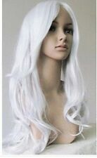 ZWJF308  beautiful long white curly cosplay health WIG wigs for women