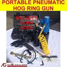 PORTABLE PNEUMATIC AIR C24 HOG RING C CLIP GUN LOW AIR REQUIREMENTS FENCE RINGER