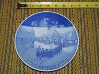 Bing & Grondahl Jule After Arrival Christmas Guest Plate 1969 B & G Copenhagen