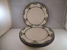 Vintage American Belleek Lenox Set of Four Salad Plate Pear Orange Tree Fruit