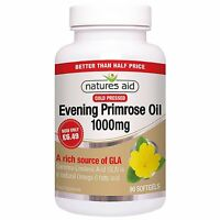 Natures Aid Evening Primrose Oil 1000mg Cold Pressed - Pack of 90 Capsules