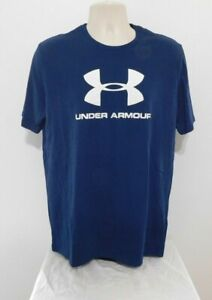 Under Armour Knit Stretch Crew Neck  Mens T-Shirts Size LARGE Blue NEW