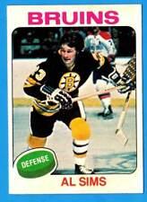 1975-76 Topps AL SIMS (ex+) Boston Bruins