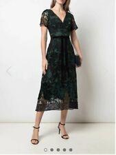 Marchesa Notte Embroidered Velvet Dress Size 4