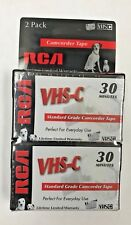 RCA VHS-C 30 Minutes Standard Grade Camcorder Tape 2 Pack * Brand New