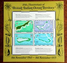British Indian Ocean Territory – 1975 - 10th Anniv. – Minisheet – UM (MNH) (R7)