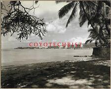 1957 Publicity Photo RESORT STRIP - WAIKIKI BEACH The Reef Hotel Moana SurfRider