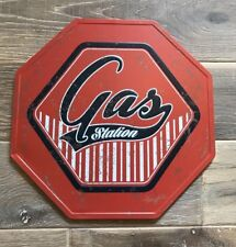 American Gas Station 1950s Style Cool Vintage Octagonal Tin Sign 30x30cm Metal