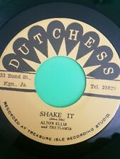 DUTCHESS RECORDS SHAKE IT / 123 KICK   ALTON ELLIS / TOMMY MCCOOK .TREASURE ISLE