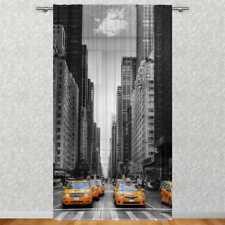 "Gardine ""New York Taxi"" 135x245 cm Fotogardine Motiv Textildruck Bild"