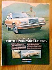 1981 Ford Thunderbird Ad  In a World of Ordinary Cars TB is Still There