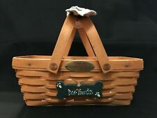 Longaberger 2000 Woven Memories Basket Combo Family Signatures Dog Treats Tie-On