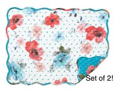 �œ� The Pioneer Woman Placemats Vintage Bloom Set of 2 Quilted Reversible New �œ�