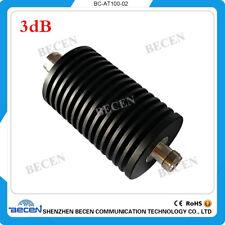 100W N Attenuator 3db male to female DC-3GHZ 50ohm RF