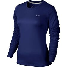 New Women's Nike Dri-Fit Miler Long Sleeve Running Top Size 12 Medium