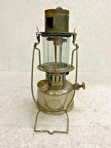 OLD VINTAGE RARE HEG GISCO 575 BRASS KEROSENE LANTERN LAMP MADE IN GERMANY