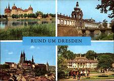 Rund um Dresden Sachsen DDR Mehrbild-AK ua. Meißen Schloss Pilnitz Moritzburg