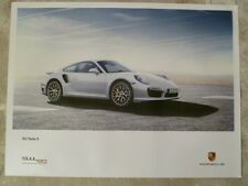 2013 Porsche 911 Turbo S Coupe Showroom Advertising Poster RARE!! Awesome L@@K