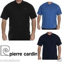 Pierre Cardin Mens Polo Shirt Plain Short Sleeve Casual T Shirt Plus Big Sizes