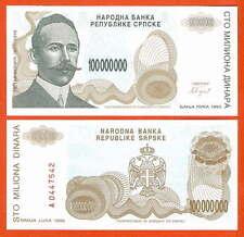 P154  Bosnien  Bosnia Herzegovina  100 Mio  Dinara  1993 UNC
