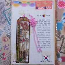 Metal Bookmark Korea Traditional Pattern Hangul Hanbok Freeshipping