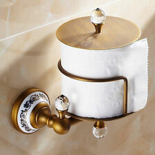 HOROW Bathroom Antique Brass Brushed Toilet Tissue Roll Paper Holder