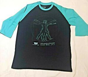 ALIENS RAGLAN BISHOP MODEL 341-B TSHIRT Loot Crate Black / Green NEW