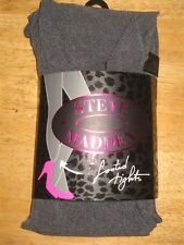 NWT Steve Madden Footed Tights - Dark Grey - Size M/T