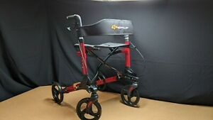 Foldable Rollator Walker Mobility Aid Wheel Chair Aluminum Seat