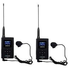 Portable 2pcs 0.6 W Transmetteur FM MP3 Radio pour Voiture réunion tour guide