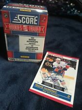 SCORE-ROOKIES & TRADED-105 NHL TRADING CARDS-AUTOGRAPHED CARD