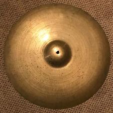 "1960's Avedis Zildjian 22"" Ride Cymbal, vintage, 2600 grams, Has Keyholing, Thin"