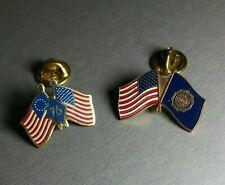 Lapel Pins American Flags (2) Bicentennial and American Legion