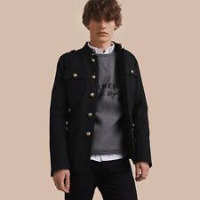 RRP $995 BURBERRY Military Cotton Jacket Black IT48 Ref M
